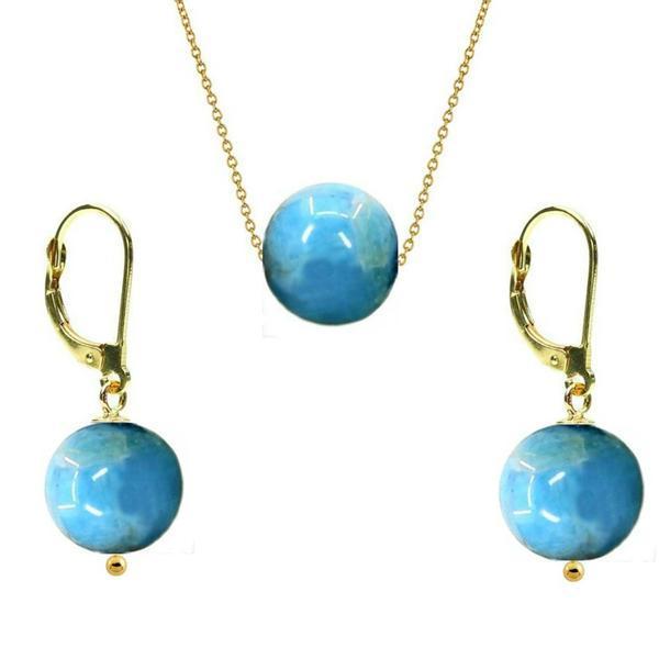 Set Aur 14 Karate si Apatit de 8 mm – Cadouri si perle