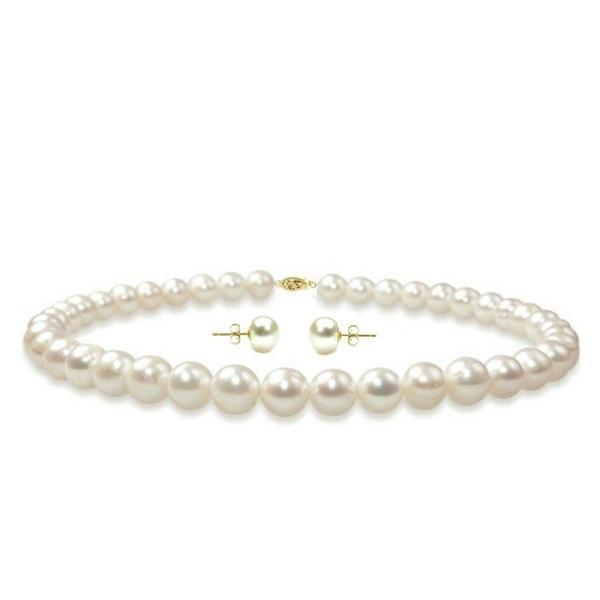 Set Aur 14k si Perle Naturale Albe – Cadouri si perle