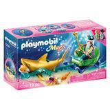 Playmobil Magic Regele marii cu trasura rechin