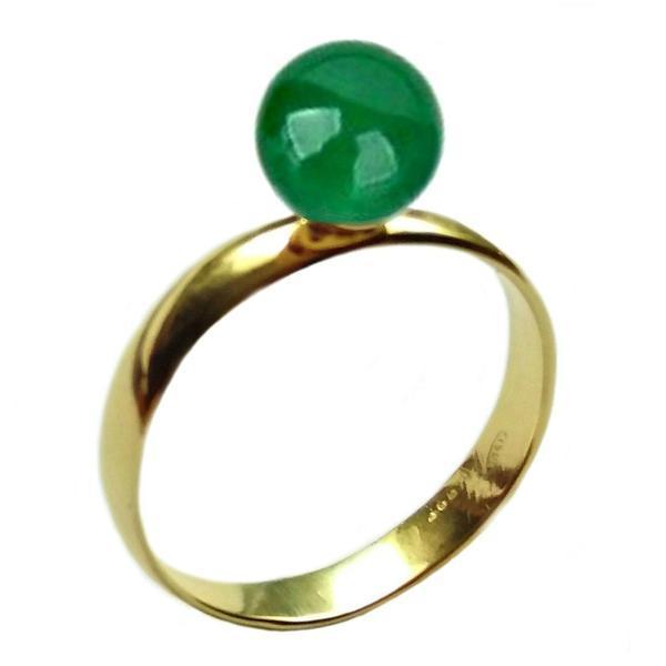 Inel din Aur cu Jad Natural – Cadouri si perle