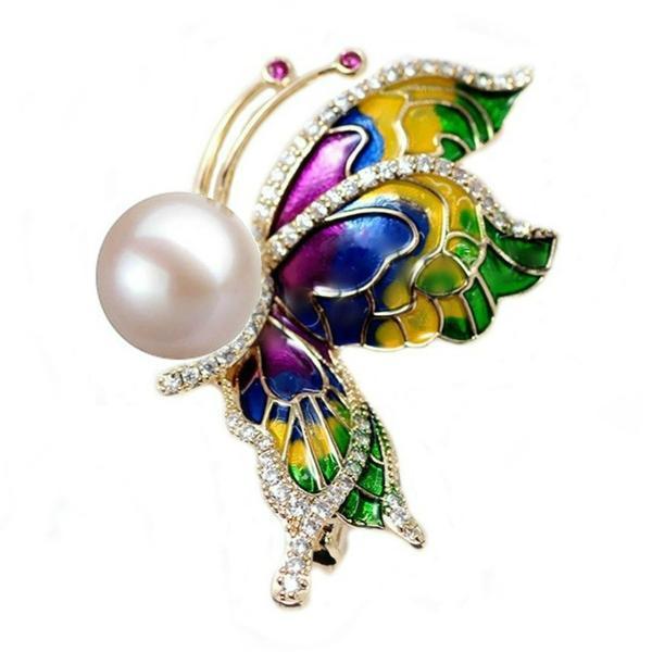 Brosa Pandantiv Fluture Curcubeu – Cadouri si perle