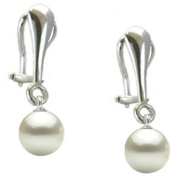 Cercei Argint Clips cu Perle Premium Albe de 8 mm – Cadouri si perle