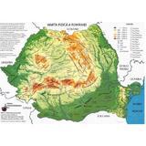Plansa harta romaniei a3 administrativa + fizica