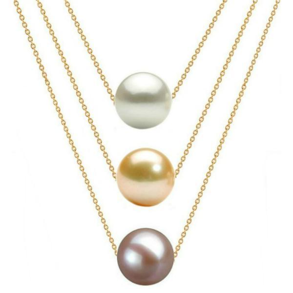 Colier Triplu Aur 14 karate si Perle Naturale Premium – Cadouri si perle