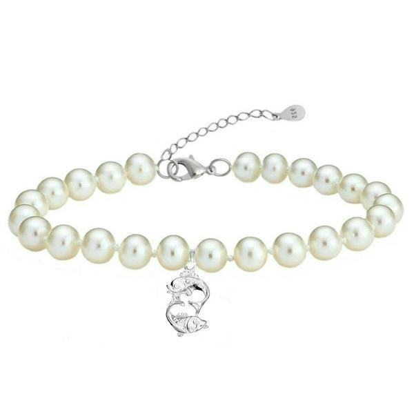 Bratara Zodiac Pesti cu Perle Naturale Albe – Cadouri si perle
