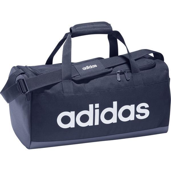 Geanta unisex adidas Linear Logo Duffel Bag FM6745, Marime universala, Albastru