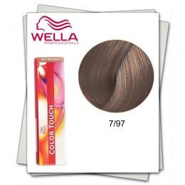 Vopsea fara Amoniac - Wella Professionals Color Touch nuanta 7/97 blond mediu perlat castaniu