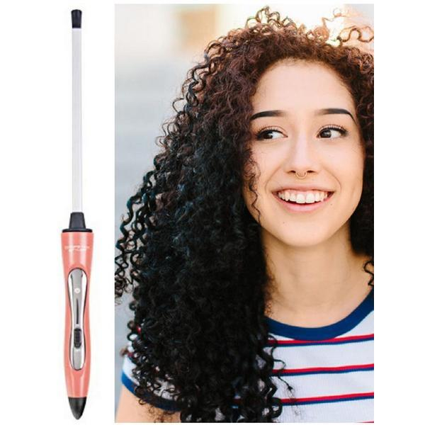 Ondulator Bucle Afro Chopstick Styler Hair Wand , suprafata Ceramica, Diametru 7x10 mm, 32 W, Roz imagine produs