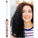Ondulator Bucle Afro Chopstick Styler Hair Wand , suprafata Ceramica, Diametru 7x10 mm, 32 W, Roz