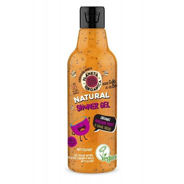 Gel de Dus Skin Supergood cu Fructul Pasiunii si Seminte de Busuioc Planeta Organica, 250 ml imagine produs