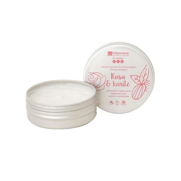 Crema de Maini Organica cu Trandafir si Unt de Shea LaSaponaria 60ml imagine produs