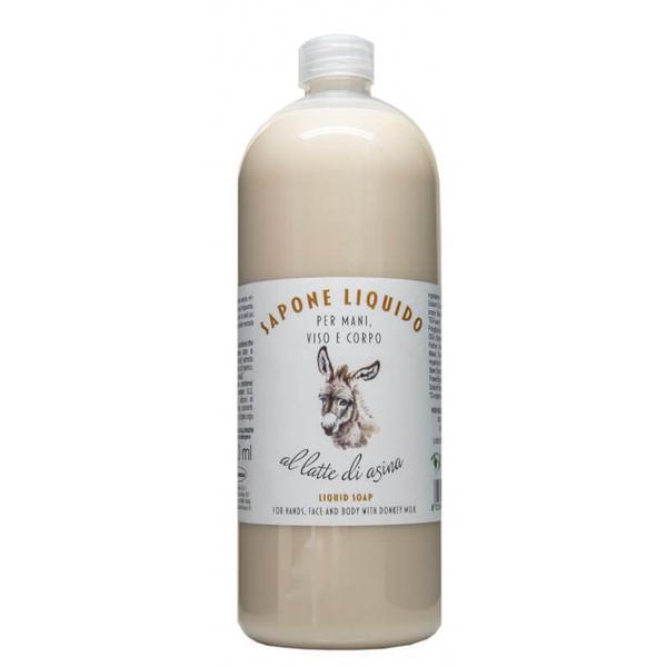 Sapun Lichid pentru Maini si Corp cu Lapte de Magarita La Dispensa, 1000 ml imagine produs