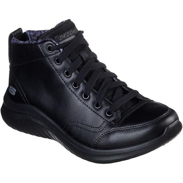 Ghete femei Skechers Ultra Flex 2.0 Plush Zone 13358/BBK, 35, Negru