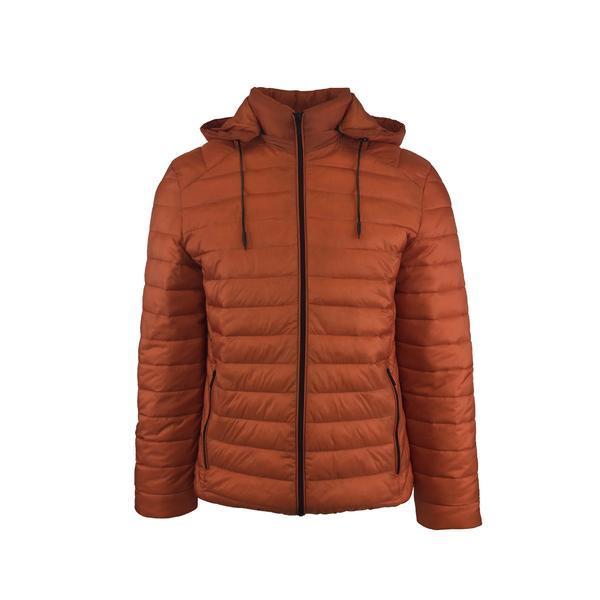 Geaca usoara, Univers Fashion aspect matlasat cu vatelina si gluga ajustabila, oranj, L