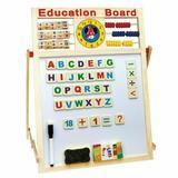 Tabla magnetica educativa din lemn pentru copii cu 5 functii 63x42cm