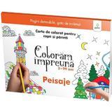 Coloram impreuna: Peisaje. Carte de colorat pentru copii si parinti, editura Gama
