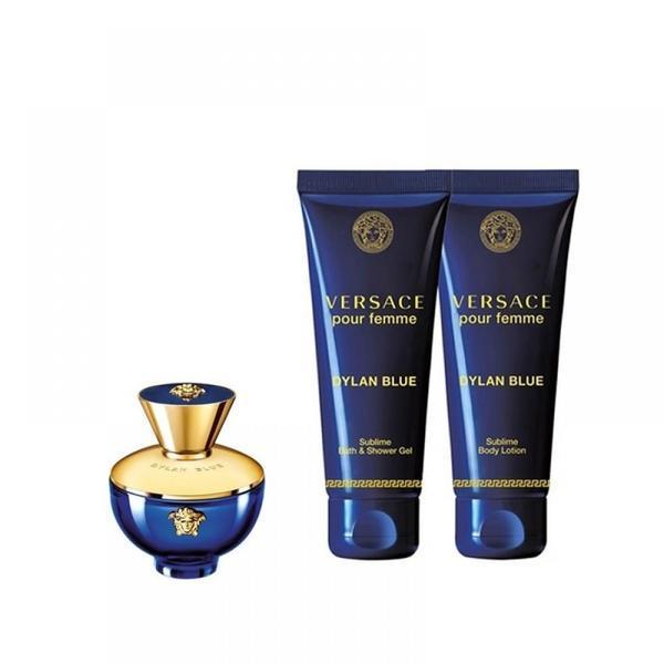 Set cadou : Apă de Parfum 50 ml + Gel de duș 50 ml + Loțiune de corp 50 ml - Versace Dylan Blue Pour Femme imagine produs