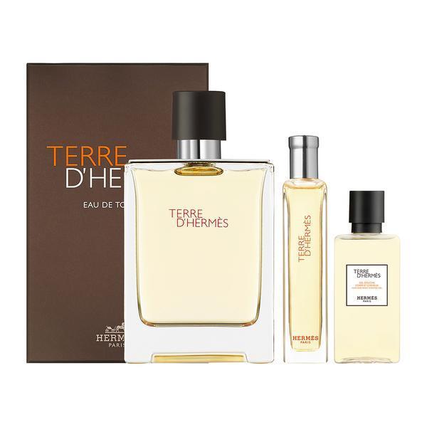 Set cadou Apă de toaletă 100 ml + Apă de toaletă 15 ml + Gel de duș 40 ml - Hermes Terre d'Hermes Edition Weekend imagine produs