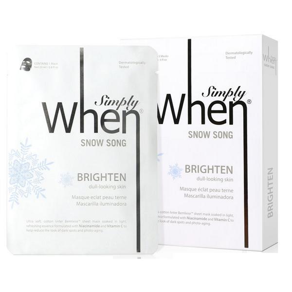 Set Masca pentru Luminozitate cu Vitamina C Snow Song Simply When, 5 buc