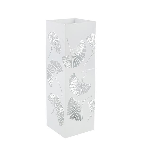 Suport umbrele metal alb Ginkgo 16 cm x 16 cm x 48 h – Decorer