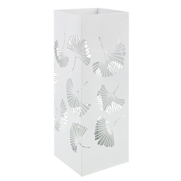 Suport umbrele metal alb Ginkgo 19 cm x 19 cm x 52 h – Decorer