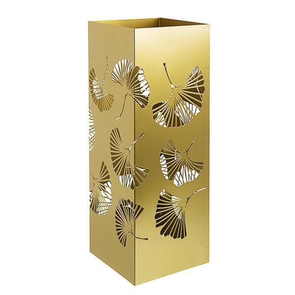 Suport umbrele metal auriu Ginkgo 19 cm x 19 cm x 52 h – Decorer
