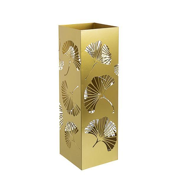 Suport umbrele metal auriu Ginkgo 16 cm x 16 cm x 48 h – Decorer