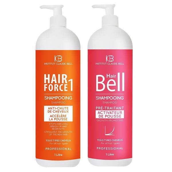 Pachet promo Hair Force One Sampon 1000ml si Hair Bell Sampon 1000ml Institut Claude Bell poza