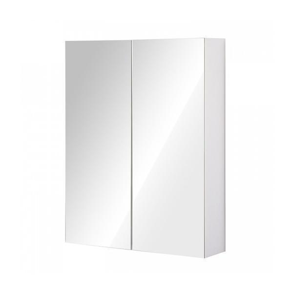 Dulap baie cu oglinda Alb 75 x 60 x 15 cm – Caerus Capital