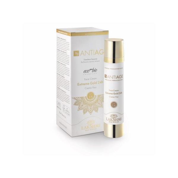 Crema Anti-age cu Aur 24h SPF15 Lakshmi, 50 ml imagine produs