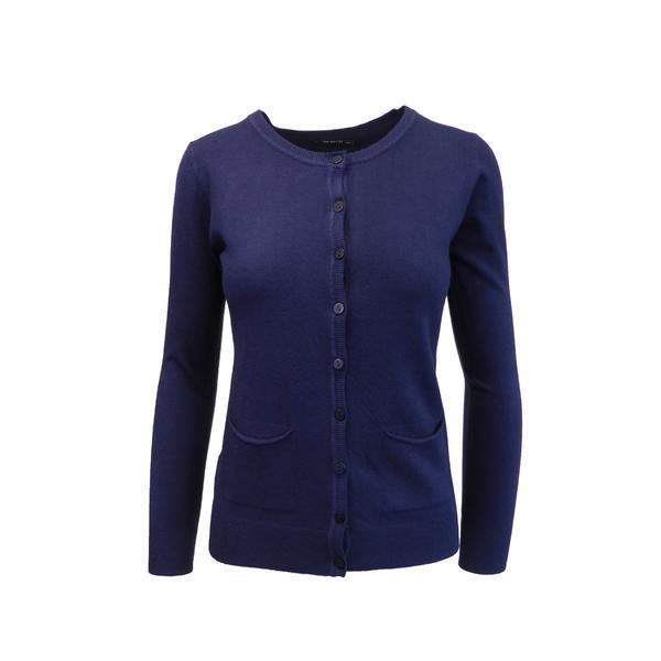 Cardigan, Univers Fashion tricotat fin, inchidere cu 9 nasturi, albastru, M-L