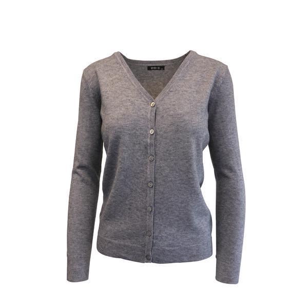 Cardigan, Univers Fashion tricotat fin , inchidere cu 7 nasturi, gri, M-L