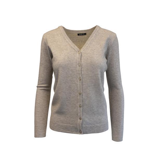 Cardigan, Univers Fashion tricotat fin , inchidere cu 7 nasturi, bej, S-M