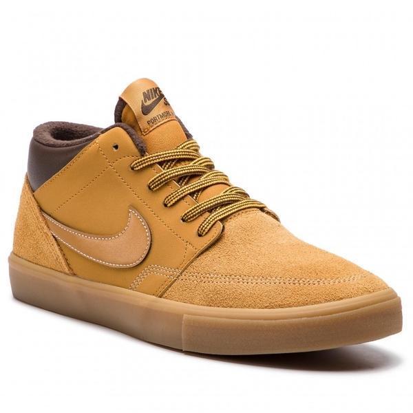 Ghete barbati Nike Sb Portmore II Slr M AJ6978-779, 45.5, Maro