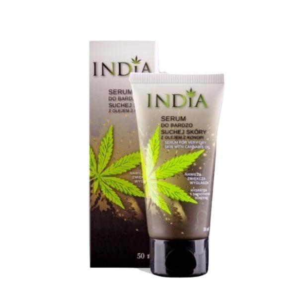 Ser pentru pielea foarte uscata, cu CBD, India Cosmetics 50 ml imagine