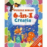 Puzzle biblic 6 in 1: Creatia, editura Casa Cartii