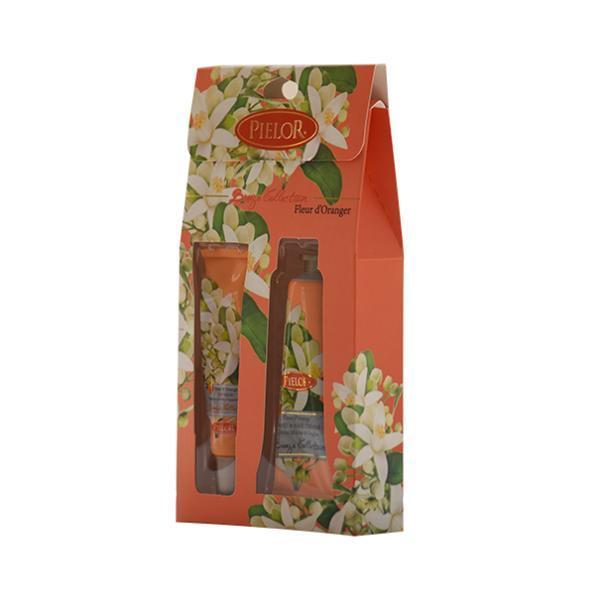 Set cadou balsam de buze 12ml + cremă de mâini 30ml - Pielor Breeze Collection Fleur d'Orange imagine produs