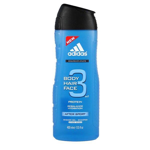 Gel de dus sampon 3 in 1 pentru barbati Adidas After Sport 400ml imagine