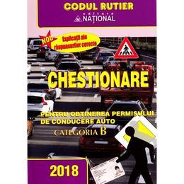 Chestionare pentru obtinerea permisului auto categoria B, editura National