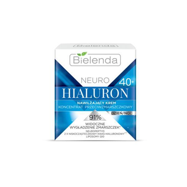 Crema hidratanta anti-rid 40+ zi/noapte Bielenda Neuro Hialuron 50ml imagine