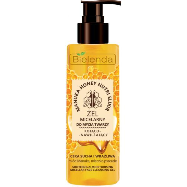 Gel Micelar calmant si hidratant pentru Ten Uscat si Sensibil Bielenda Manuka Honey Nutri Elixir 200g imagine produs