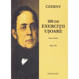 thumb 100 de exercitii usoare pentru pian czerny editura grafoart 1 - 100 de exercitii usoare pentru pian - Czerny, editura Grafoart
