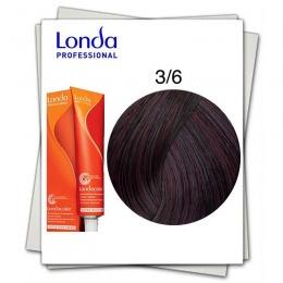 Vopsea Fara Amoniac - Londa Professional nuanta 3/6 cenusiu inchis violet