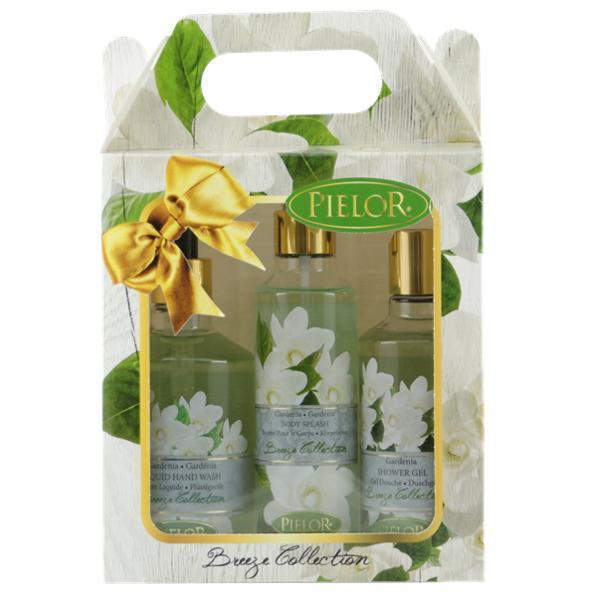 Set cadou Sapun lichid 350ml + Spray corp 200ml + Gel dus 250ml - Pielor Breeze Collection Gardenia esteto.ro