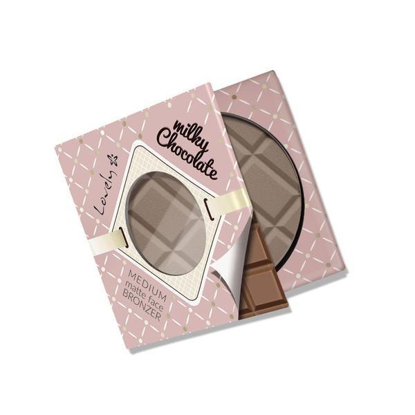 Pudră mata, bronzantă Lovely Milky Chocolate, 9 g imagine produs