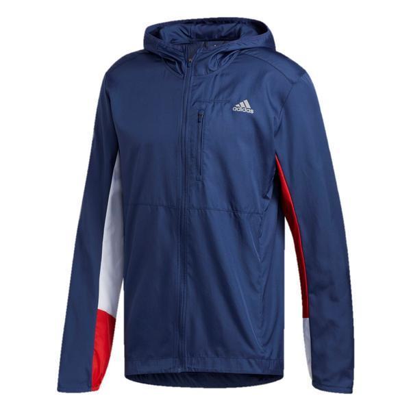 Jacheta barbati adidas Own The Run Hooded Wind ED9291, S, Albastru