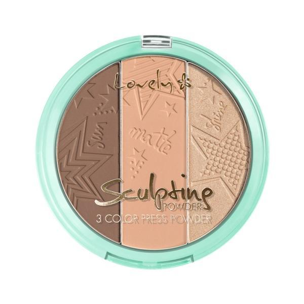 Pudra pentru conturarea feței Lovely Powder Sculpting 03, 15 g imagine