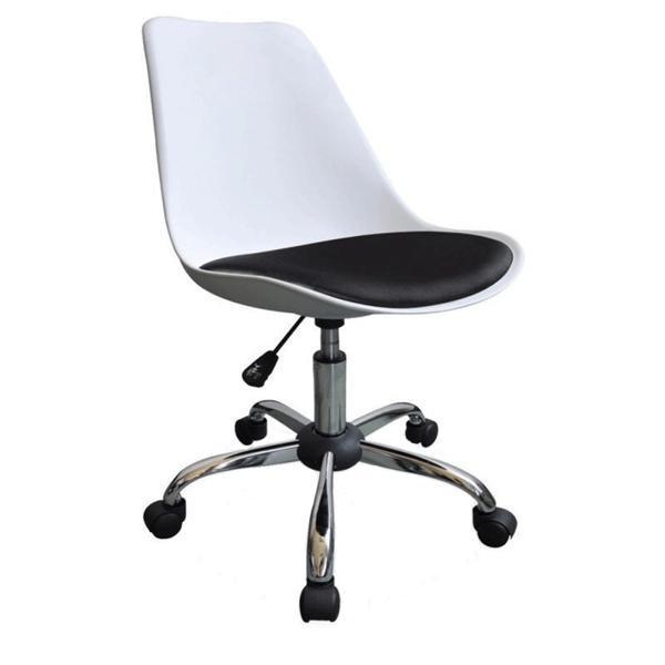 Scaun birou SL Q777 alb/negru