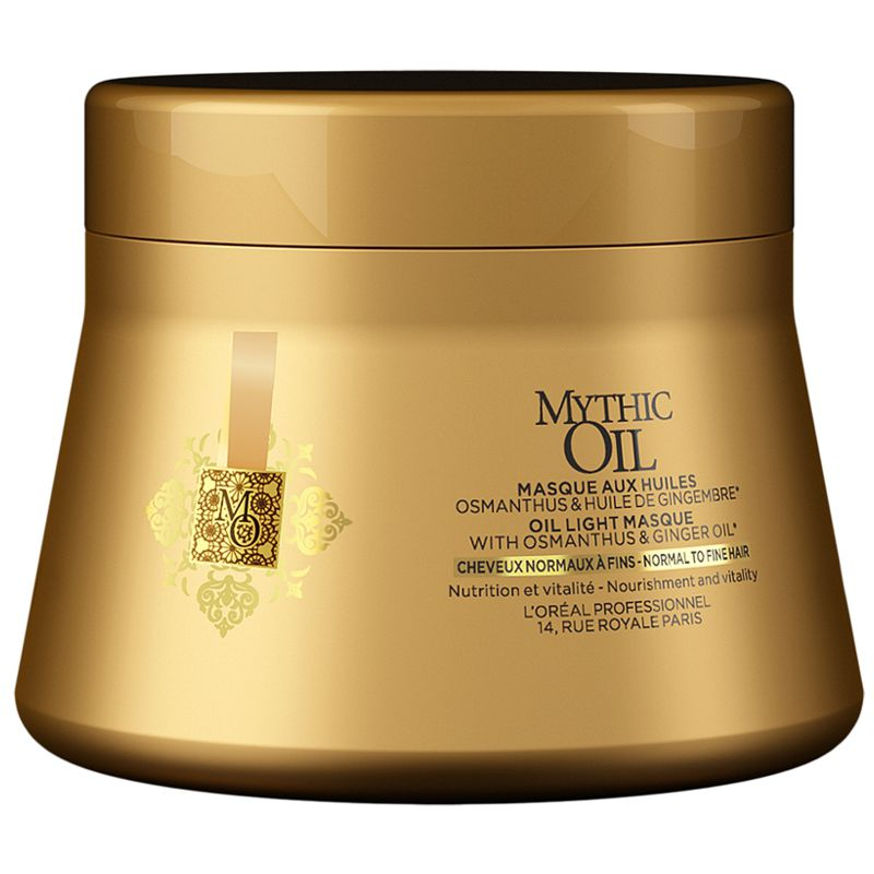 Masca Nutritiva pentru Par Normal si Fin - L'Oreal Professionnel Mythic Oil Light Masque 200 ml esteto.ro
