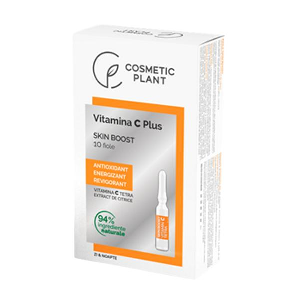Fiole Skin Boost Vitamina C Plus Cosmetic Plant, 10 x 2 ml imagine produs